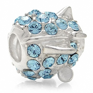 AUTH Nagara AIRPLANE Crystal Silver w/Thread Charms Bead fits Pandora Chamilia