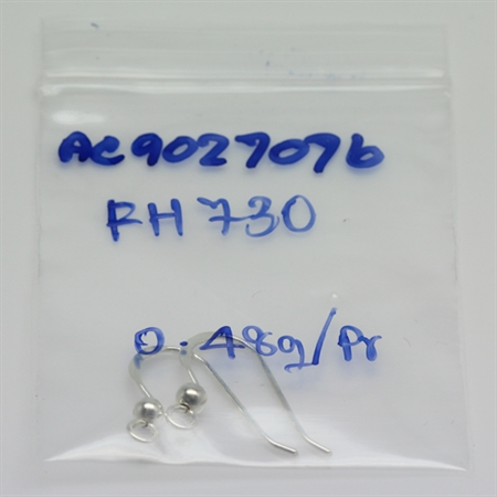 Sterling Silver Ball Hook Earring FH-730