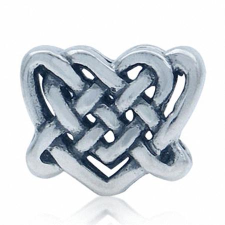 925 Sterling Silver Celtic Knot HAERT European Charm Bead (Fits Pandora Chamilia)