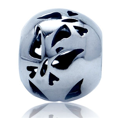 925 Sterling Silver FILIGREE BUTTERFLY European Charm Bead (Fits Pandora Chamilia)