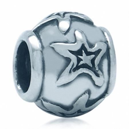 AUTH Nagara STAR Sterling Silver Bead Charms fits Pandora Chamilia