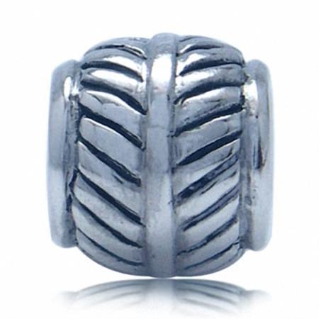 925 Sterling Silver LEAF European Charm Bead (Fits Pandora Chamilia)