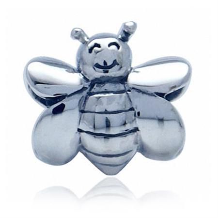 AUTH Nagara 925 Sterling Silver BEE European Charm Bead (Fits Pandora Chamilia)