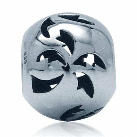 925 Sterling Silver COCONUT Filigree European Charm Bead (Fits Pandora Chamilia)