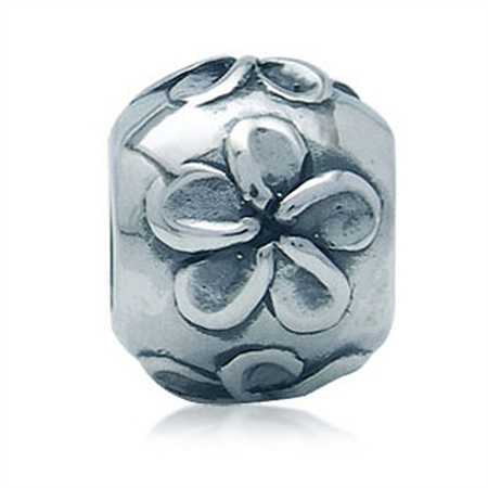 925 Sterling Silver FLOWER European Charms Bead (Fits Pandora Chamilia)
