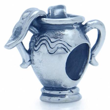 925 Sterling Silver ZODIAC AQUARIUS European Charm Bead (Fits Pandora Chamilia)
