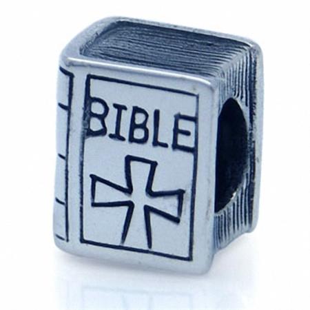 AUTH Nagara 925 Sterling Silver BIBLE European Charm Bead (Fits Pandora Chamilia)