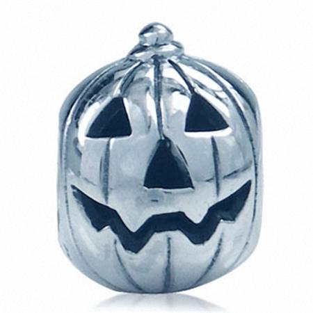 925 Sterling Silver HALLOWEEN PUMPKIN European Charm Bead (Fits Pandora Chamilia)