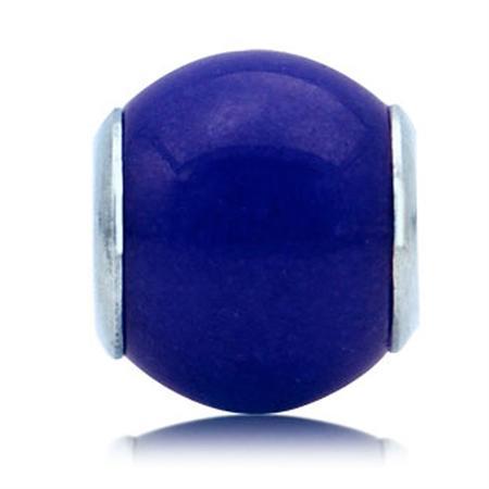 Blue Murano Glass 925 Sterling Silver European Charm Bead (Fits Pandora Chamilia)