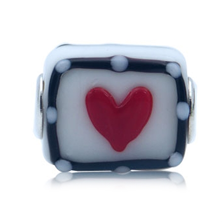 Murano Glass 925 Sterling Silver European Charms Bead (Fits Pandora Chamilia)