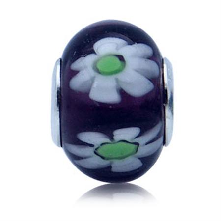 Multicolor Murano Glass 925 Sterling Silver European Charm Bead (Fits Pandora Chamilia)