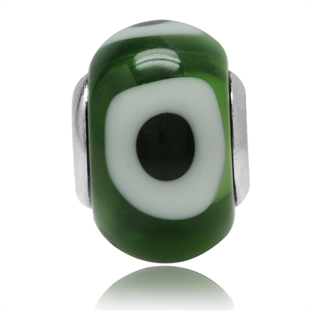 Multicolor Murano Glass 925 Sterling Silver European Charm Bead (Fits Pandora Chamilia)