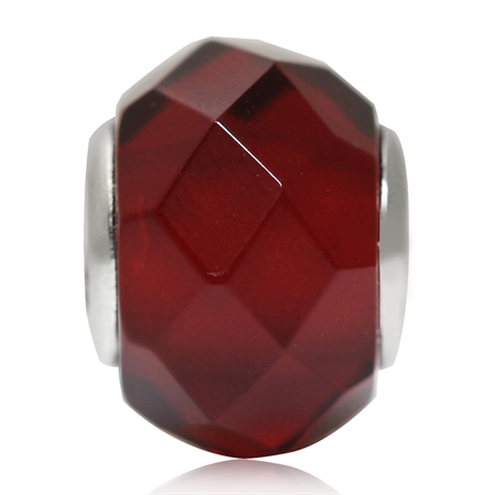Red Murano Glass 925 Sterling Silver European Charm Bead (Fits Pandora Chamilia)