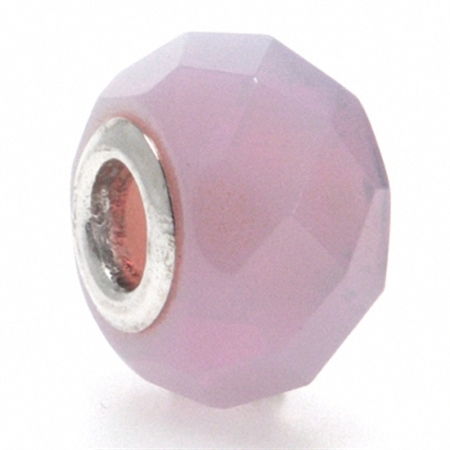 Opal Pink Murano Glass 925 Sterling Silver European Charm Bead (Fits Pandora Chamilia)
