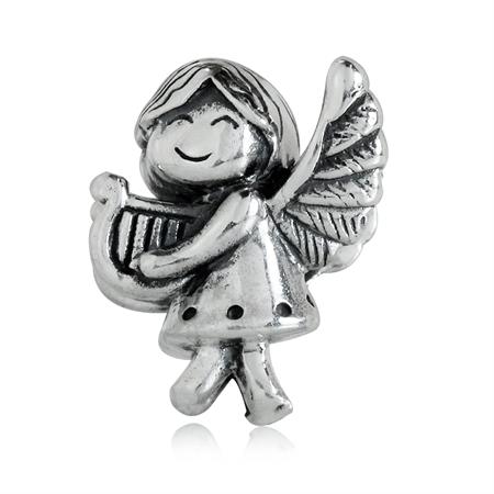 AUTH Nagara 925 Sterling Silver ANGEL European Charm Bead (Fits Pandora Chamilia)