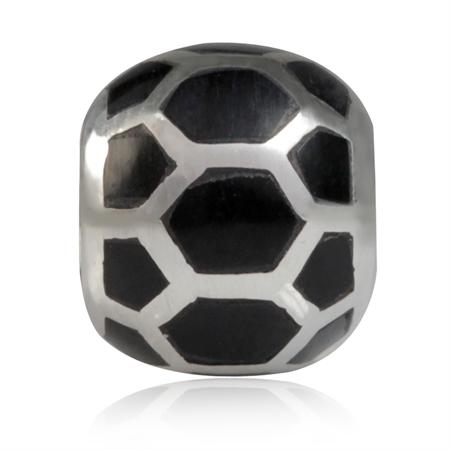 Black Onyx 925 Sterling Silver European Charm Bead (Fits Pandora Chamilia)