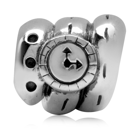 925 Sterling Silver Wristbank Watch European Charm Bead (Fits Pandora Chamilia)