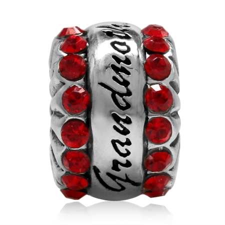 Light Saim Crystal 925 Sterling Silver GRANDMOTHER European Charm Bead (Fits Pandora Chamilia)