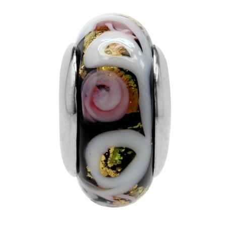 Multicolor Italian Murano Glass 925 Sterling Silver European Charm Bead (Fits Pandora Chamilia)