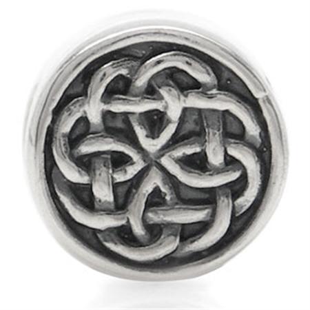 AUTH Nagara Celtic Knot Silver Threaded European Charm Bead