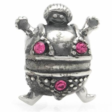 Nagara CHUBBY BIKINI Pink Crystal 925 Sterling Silver Threaded European Bead