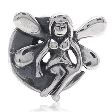 Nagara FAIRY TALE ANGEL 925 Sterling Silver Threaded European Charm Bead