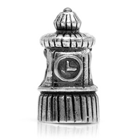Nagara Sterling Silver CLOCK TOWER European Bead
