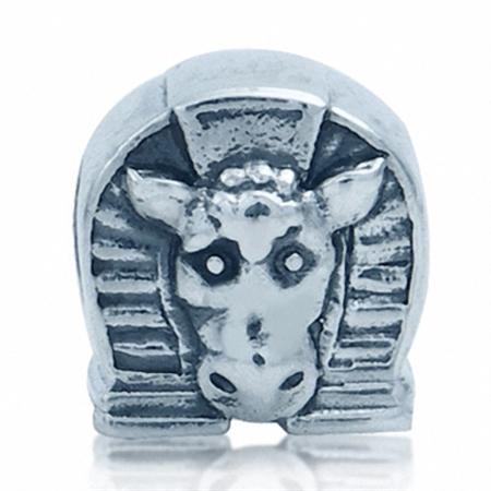 AUTH Nagara HORSE HEAD & HORSESHOE 925 Sterling Silver Threaded European Bead