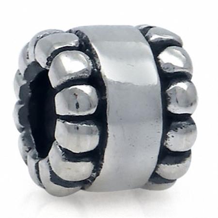 925 Sterling Silver Balinese Threaded European Bead