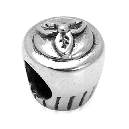 925 Sterling Silver CUPCAKE European Charm Screw Bead