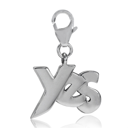 925 Sterling Silver YES Dangle Charm