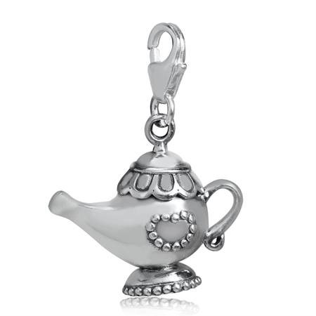 925 Sterling Silver LAMP Dangle Charm