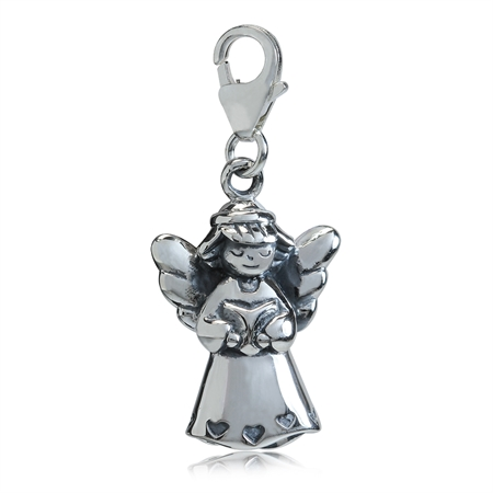 AUTH Nagara 925 Sterling Silver FAIRY ANGEL Dangle Charm