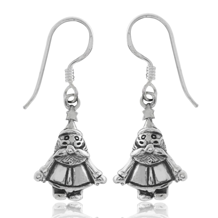 Snowman 925 Sterling Silver Dangle Earrings