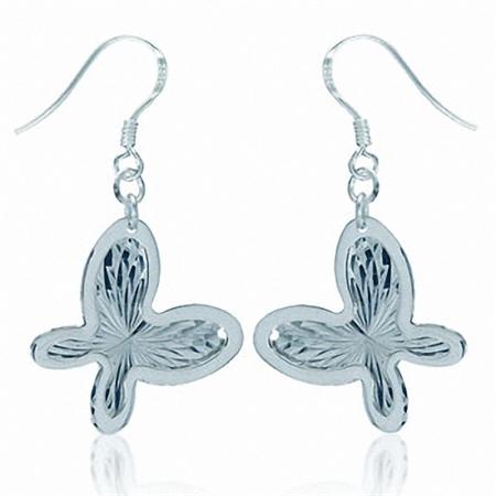 Butterfly 925 Sterling Silver Dangle Earrings