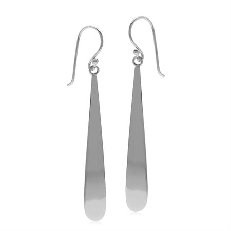 Casual Long Drop 925 Sterling Silver Dangle Hook Earrings