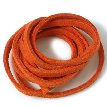 Orange Colored Imitation Leather Cord Bracelet Necklace