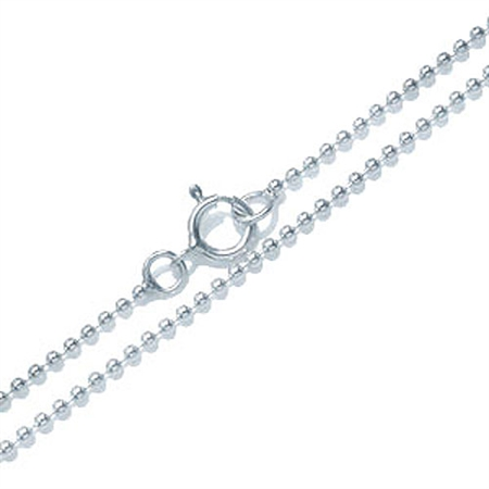 1.2MM 925 Sterling Silver Ball Chain Necklace - 14-30 Inch.