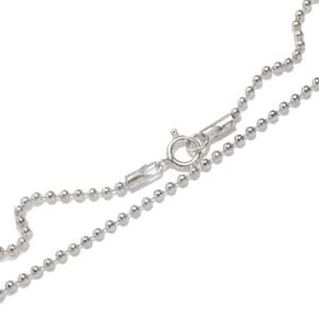 1.5MM 925 Sterling Silver Ball Chain/Necklace - 14 Inch.
