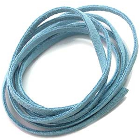 Blue Colored Imitation Leather Cord Bracelet / Necklace