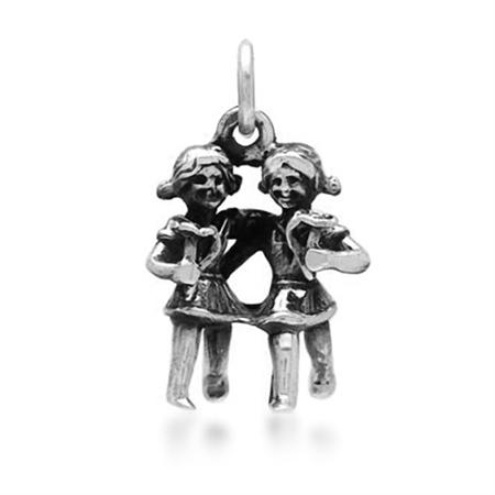 925 Sterling Silver GEMINI Zodiac Pendant/Charm