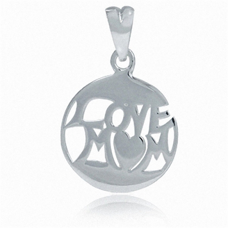 925 Sterling Silver LOVE MOM Pendant