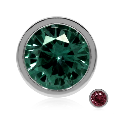 Color Change Created-Alexandrite 925 Sterling Silver Pendant