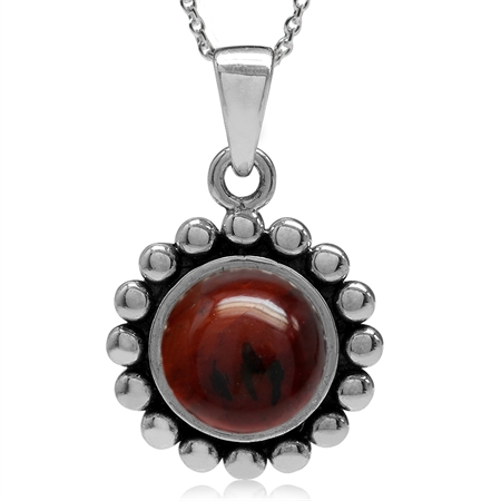 Cherry Amber 925 Sterling Silver Bali/Balinese Style Pendant w/ 18 Inch Chain Necklace