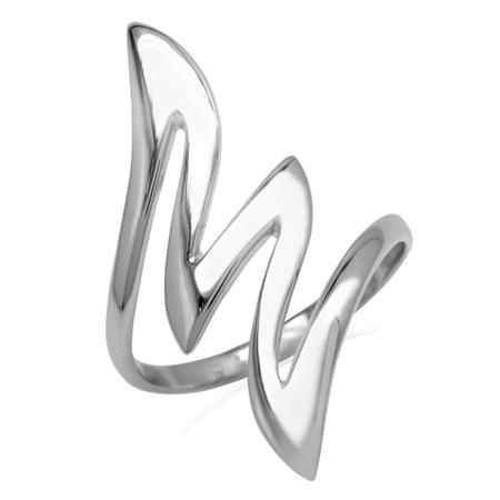 925 Sterling Silver Zig Zag Ring