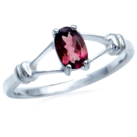 Natural Pink Tourmaline 925 Sterling Silver Solitaire Ring