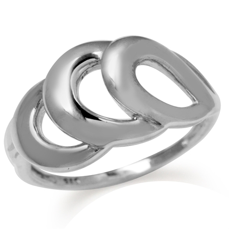 12MM 925 Sterling Silver Wavy Modern Casual Ring