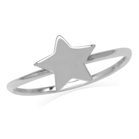 Petite 925 Sterling Silver Star Casual Teens/Girls Ring
