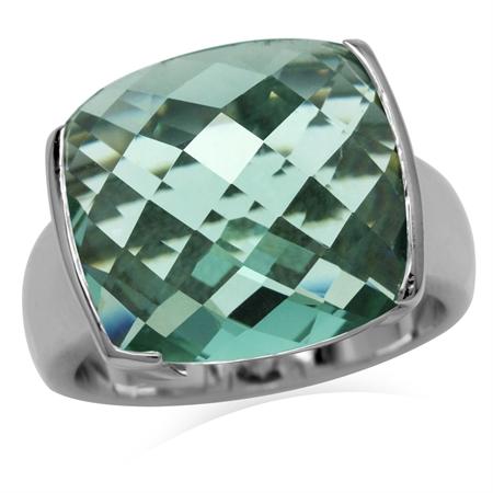 Green CZ Sterling Silver Ring