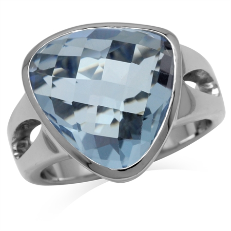 Tanzanite Blue CZ Sterling Silver Ring